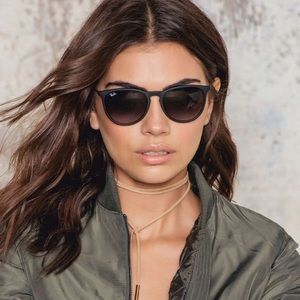 Ray Ban Erika Matte Black Polarized women sunglass